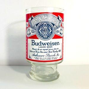 Vintage Budweiser beer glass